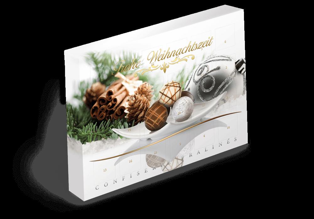 Advents Kalender Verpackung mit Golddruck