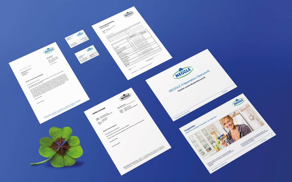 Konzept und Umsetzung der gesamten Geschäftsausstattung sowie digitalen Word-, PPT-, Excelvorlagen.